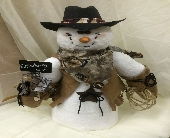 My Little Snow Buddy - Cowboy in Columbiana OH, Blossoms In the Village