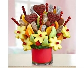 From The Heart Fruit Arrangement in Mount Morris MI, June's Floral Company & Fruit Bouquets
