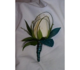 Teal Boutonniere in Greensboro NC, Send Your Love Florist & Gifts