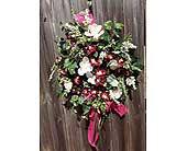 Burgundy Magnolia Wreath in Franklinton LA, Margie's Florist