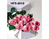 1 Dozen Long-Stemmed Roses - Pink - Boxed in Monroe CT, Irene's Flower Shop