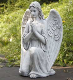 Kneeling Praying Angel in Chelsea MI, Chelsea Village Flowers