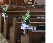 Aisle Bow With Flowers in Bayside, New York, Bell Bay Florist