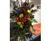Custom Sympathy Arrangement in Ammon ID, Petal Passion