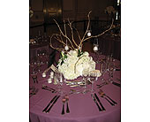 Low Arrangemet with gold Branches and Votives in Blue Bell, Pennsylvania, Country Flower Shoppe