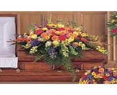 Celebration of Life Casket Cover in Jacksonville, Florida, Kuhn Flowers