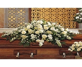Pure White Casket Spray in Jacksonville, Florida, Kuhn Flowers