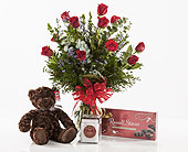Whitehouse Flowers - Rose Gift Set - Flowers By Lou Ann