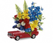 Teleflora's '65 Ford Mustang Bouquet in Bradenton FL, Tropical Interiors Florist