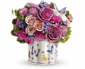 Teleflora's Field Of Butterflies Bouquet in Ammon ID, Petal Passion