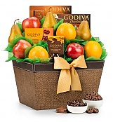 Fresh Fruit and Godiva Chocolates - by GiftTree Flowers