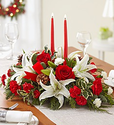 Season's Greetings Centerpiece in Jupiter FL, Anna Flowers