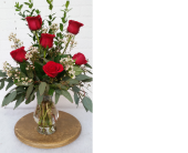 6 Roses in Redwood City CA, Redwood City Florist