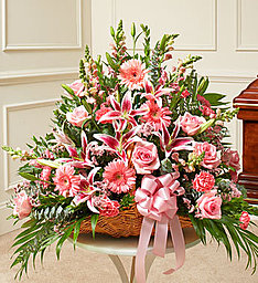 Mixed Pink Basket in East Amherst NY, American Beauty Florists