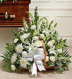 All White Basket in East Amherst NY, American Beauty Florists