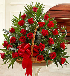 Red Rose Basket in East Amherst NY, American Beauty Florists