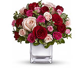 Love Medley Bouquet with Red Roses in Palm Springs CA, Palm Springs Florist, Inc.