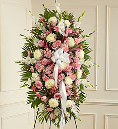 Pink & White Standing Spray in East Amherst NY, American Beauty Florists