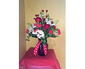New Berlin Flowers - Burst of Hearts Bouquet - Barb's Green House Florist