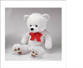 Large White Plush Bear in Big Rapids, Cadillac, Reed City and Canadian Lakes MI, Patterson's Flowers, Inc.