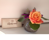 Rookwood Sophia vase arrangement in Cincinnati, Ohio, Covent Garden Florist