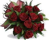 1 Dz Red Roses Hand Tied in Campbell River BC, Campbell River Florist