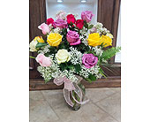 Multicoloured Roses in Mississauga ON, Flowers By Uniquely Yours