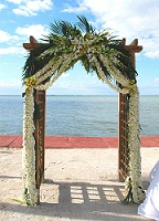 Arbor with orchid leis in Stuart FL, Harbour Bay Florist