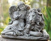 Angel with Lion and Lamb in Warren MI, Downing's Flowers & Gifts Inc.