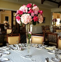 Trumpet Vase With Pink Roses and Hydrangea in Stuart, Florida, Harbour Bay Florist