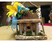 Decorated Bird House in Chattanooga, Tennessee, Chattanooga Florist 877-698-3303