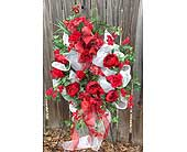 Red Floral Wreath in Franklinton LA, Margie's Florist