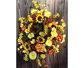 Sunflower Wreath in Franklinton LA, Margie's Florist