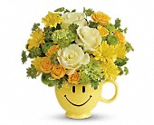 Teleflora's You Make Me Smile Bouquet in Rush NY, Chase's Greenhouse
