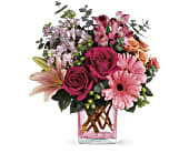 Teleflora's Painterly Pink Bouquet in Edmonton AB, Petals For Less Ltd.
