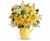 Teleflora's Sunny Outlook Bouquet in Burnaby BC, Lotus Flower & Terra Plants