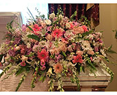 Garden Of Sympathy Casket Spray in Smyrna GA, Floral Creations Florist