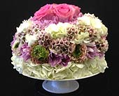 Birthday Cake of Flowers in New York NY, Fellan Florists Floral Galleria