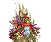 Vivid Urn Arrangement in Dallas TX, In Bloom Flowers, Gifts and More