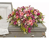 Traditional Mix Casket Spray in Dallas TX, In Bloom Flowers, Gifts and More