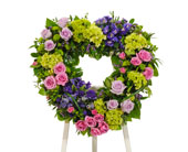 Bold Mix Open Heart Easel in Dallas TX, In Bloom Flowers, Gifts and More