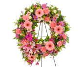 Traditional Mix Open Wreath Display in Dallas TX, In Bloom Flowers, Gifts and More