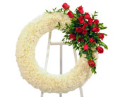 Roses & Carnations Open Wreath in Dallas TX, In Bloom Flowers, Gifts and More