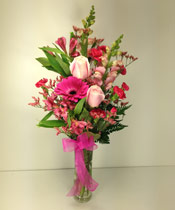 JOYFUL PINKS by Rubrums in Ossining NY, Rubrums Florist Ltd.