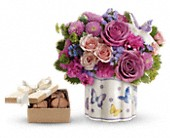 Teleflora's Field Of Butterflies with chocolates in London ON, Lovebird Flowers Inc