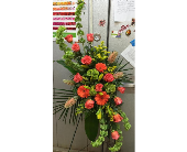 Modern vibrant standing spray in Melbourne FL, Paradise Beach Florist & Gifts