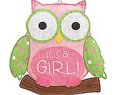 It's a Girl Owl Sign in Smyrna GA, Floral Creations Florist