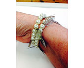 Silver Beaded Bracelet in Fredericton, New Brunswick, Trites Flower Shop
