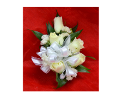 White Roses Corsage in Easton, Maryland, Robin's Nest