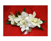 White Orchid Corsage in Easton, Maryland, Robin's Nest